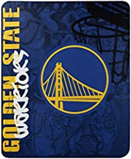 "NBA Golden State Warriors Hard Knocks Fleece Throw Blanket Hard Knocks Fleece Throw Blanket, Blue, 50"" x"