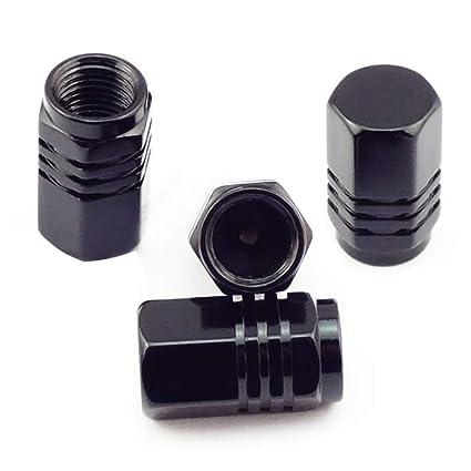 Balight - Tapones para válvulas de neumáticos de Coche, 4 en 1, universales,