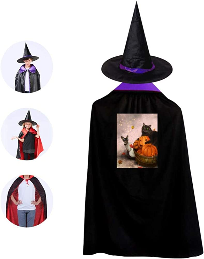 Black Glow In The Dark Stars Witch Kit Cape Hat Fancy Dress Accessory