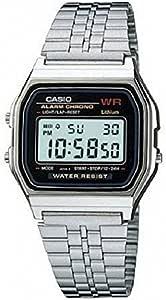 Casio A159W-N1 Vintage Retro Silver Stainless Steel Unisex Digital Watch