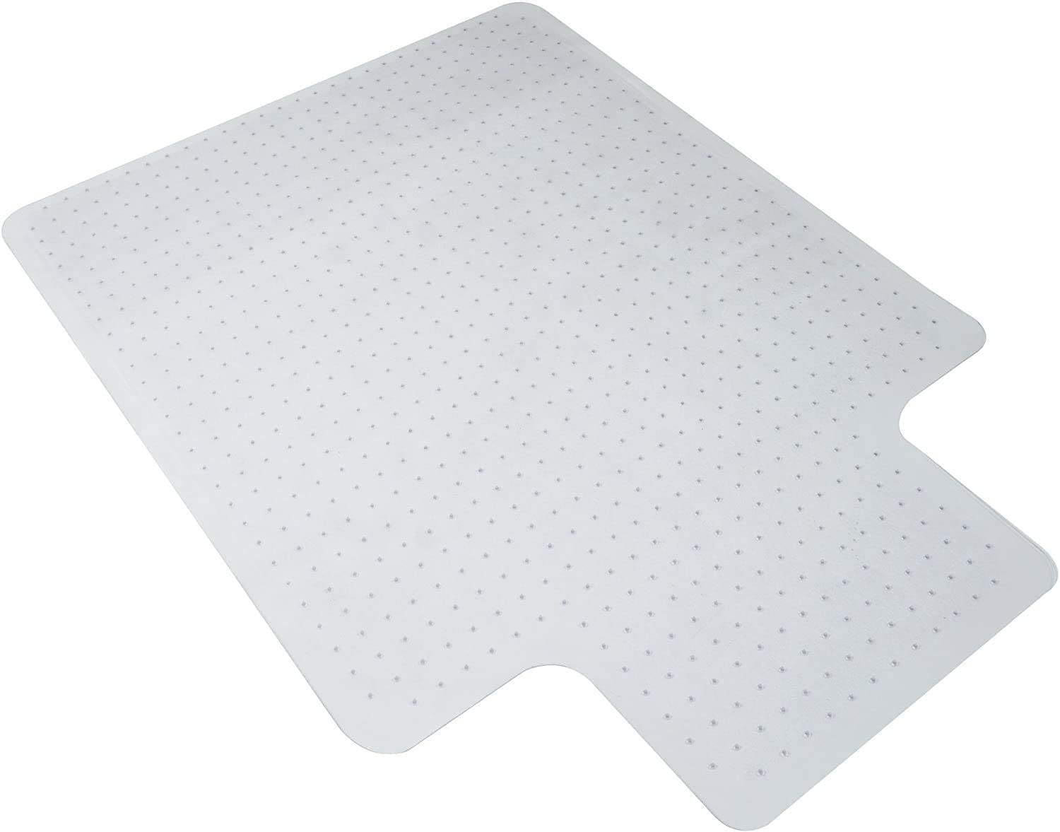 "PVC Office Chair Mat with Lip, Home-use Protective Mat, Beveled Edge, Easy Glide Mats for Carpeted Floors, Transparent (Studded (47.24"" x 35.43"" x 0.08""))"