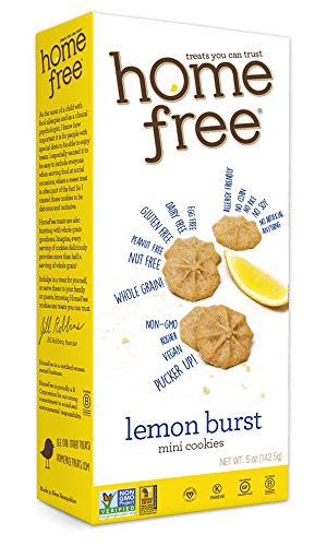 Homefree Treats You Can Trust Gluten Free Mini Cookies, Lemon Burst, 5 Ounce