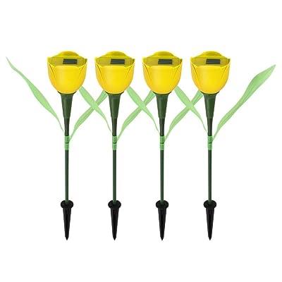 Lampes Solaires De Jardin Tulipes En Forme De Fleur Led Lampe De