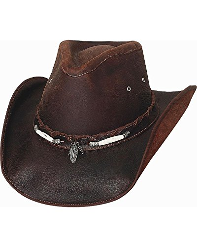 Bullhide Men's Briscoe Leather Cowboy Hat Chocolate ()