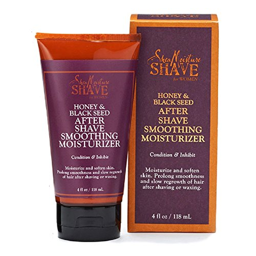 Shea Moisture for Women Honey & Black Seed after shave smoothing moisturizer, 4 Fluid (Razor Burn Bumps)