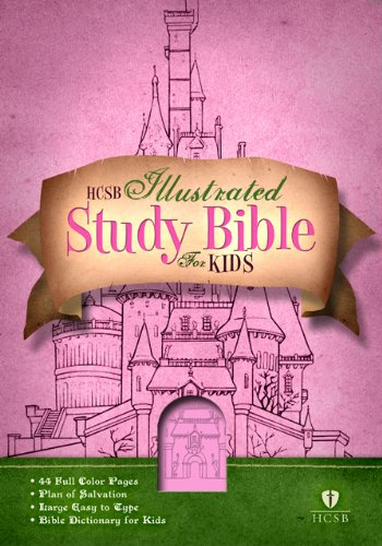 HCSB Illustrated Study Bible for Kids, Pink LeatherTouch