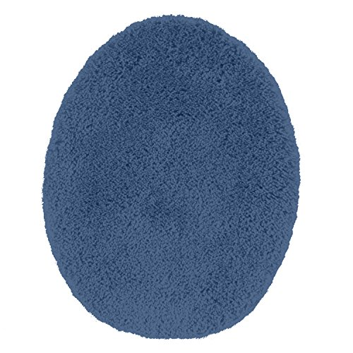 Maples Rugs Toilet Seat Cover Cloud Bath Washable Standard Lid [Made in USA] for Bathroom, Federal Blue by Maples Rugs