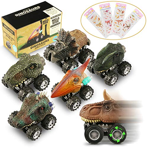 Attractive Toy Car - Dinosaur Cars,6 Pack Pull Back Dinosaur Vehicle Set, Mini Pull Back Animal Car Toy Toddlers Boys Girls,Animal Vehicles Kids Party Favors