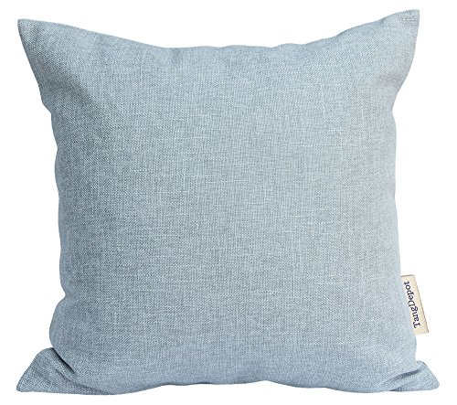 TangDepot Heavy Lined Linen Cushion Cover, Throw Pillow Cover, Square Decorative Pillow Covers, Indoor/Outdoor Pillows Shells - (16