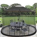 Ideaworks JB5677 Outdoor 7.5-Foot Umbrella Table Screen, Black