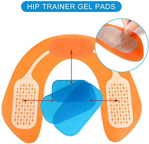 Fitness Training Hips Butt Lifting Buttocks Enhancement Device Hips Trainer EMS Buttocks//Hips Trainer with 6 Gel Pads