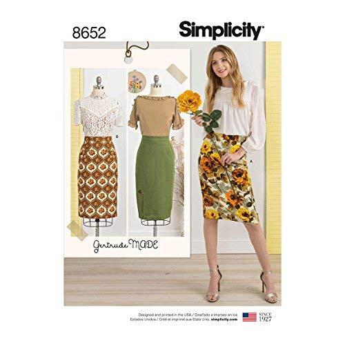 Simplicity Patterns US8652H5 Skirts & Pants, H5 (6-8-10-12-14) ()
