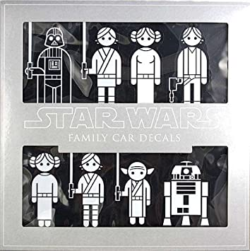 Star Wars Family Car Decals Amazoncouk Car Motorbike - Star wars family car decals