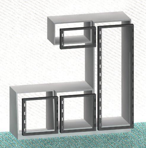 6HE Einbaurahmen 482.6mm 482.6mm 19 Schwarz Schrank f/ür den Einbau in bestehende Einrichtungen 19 Zoll