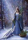 """Solstice collecte Anne Stokes"" Magic Yule carte"
