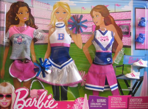 Barbie Fashions CHEERLEADER Exercise Outfits