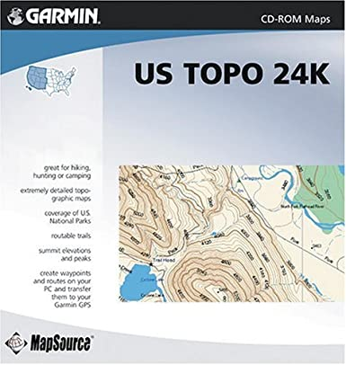 Garmin TOPO! Western United States National Parks Map CD-ROM ...