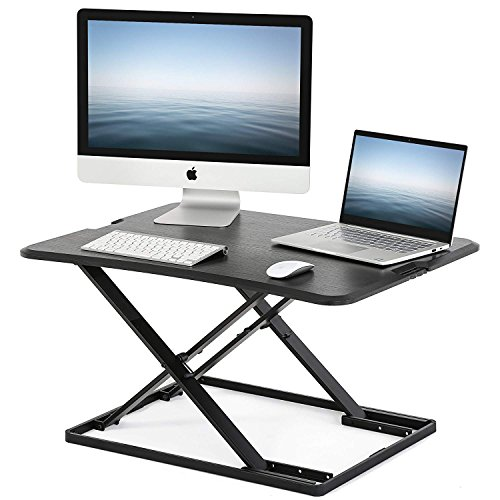 FITUEYES Height Adjustable Standing Desk Converter Sit Stand Up Riser 32