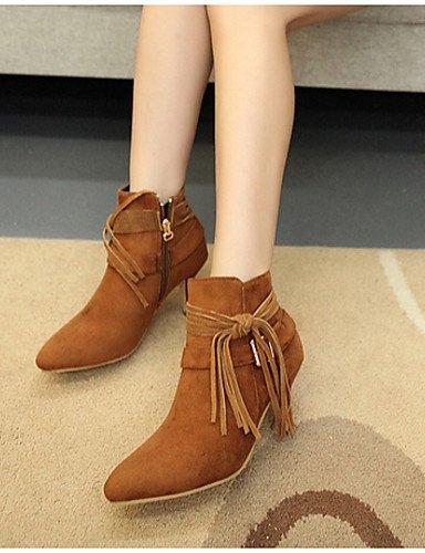 Eu36 Uk4 Botas Negro Xzz us6 Uk4 us6 5 Casual Brown Eu37 A 7 Mujer Zapatos De Marrón Tacón 5 5 Vellón Cn37 Moda Brown Stiletto Cn36 La wqrxSwPX