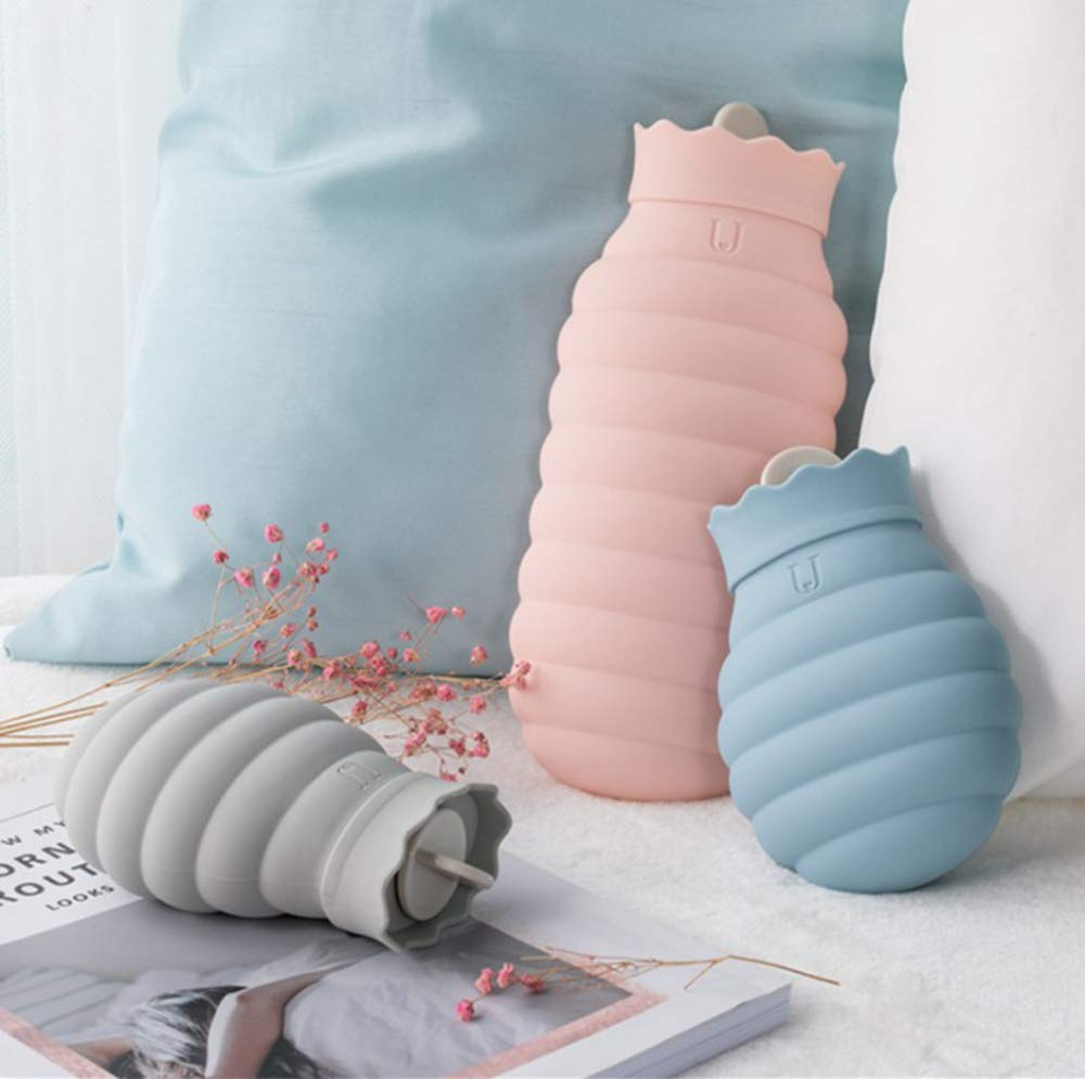 Mini W/ärmflasche f/üllen warme Handtaschen Warmwasserbeutel Silikon Wasser Injektion Hei/ßwasserbeutel