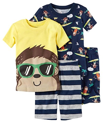Carters Month Monkey 4 Piece Pajama product image