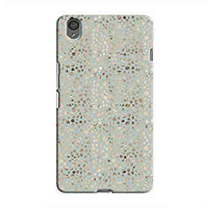 Cover It Up - Brown Cyan Pebbles Mosaic OnePlus X Hard Case