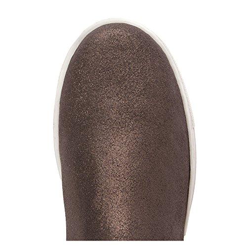 Splendid Womens SPL-Sacha Walking Shoe Pewter Metallic Crackled Suede