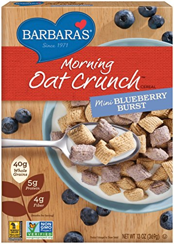 Barbaras Bakery Fat (Barbara's Morning Oat Crunch Cereal, Mini Blueberry Burst, 13 Ounce (Pack of)