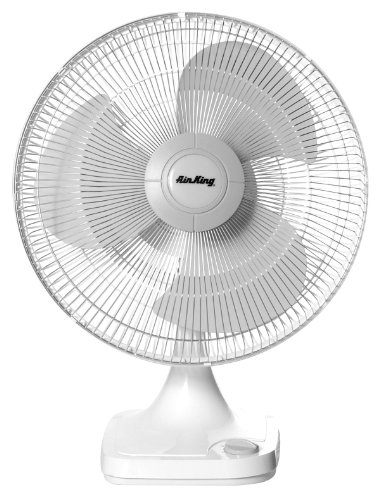 Air King 9106 16-Inch 3-Speed Oscillating Table Fan ()