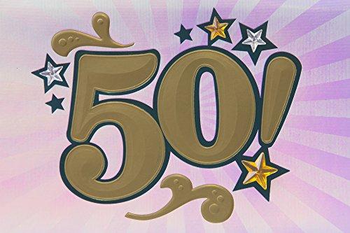 50th Birthday Greeting Card (Bling) Photo #5