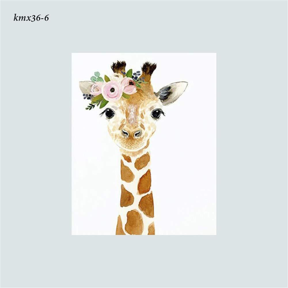 Waldtiere Tierposter Dekoration Bild Junge M/ädchen Poster DIN A4 Martin Kench 6er Set Bilder Tiere Kinderzimmer Babyzimmer Deko ohne Rahmen