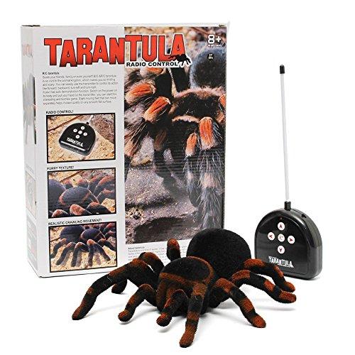 Bin Spider Scary Toy Remote Control 8'' 4CH Realistic Tarantula Horror Halloween Party (Halloween Party Deko)