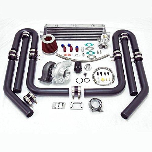 Universal High Performance Upgrade T70 10pc Turbo Kit (Silver Intercooler / Black Pipping)