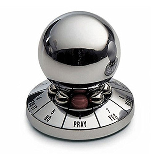 Bhbuy Decision Maker Metal Ball,Office Decompression Toy Ball,Prophecy Fate Decision Ball Desktop Decoration Random Color