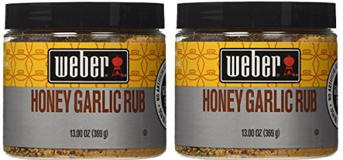 Weber Honey Garlic Dry Rub Gluten Free Seasoning 2 Jars  Bun