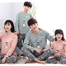 Byetell Warm Parent-child Outfit Cute Milk Pattern Long Sleeve Family Set Family Matching Clothing Set