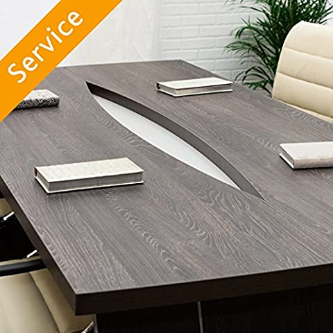 Conference Table Assembly - Up to 8 People - 1 Table - Mayflower Wood