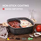 Carote 4.8-Quart Double-Flavor Hot Pot with Divider