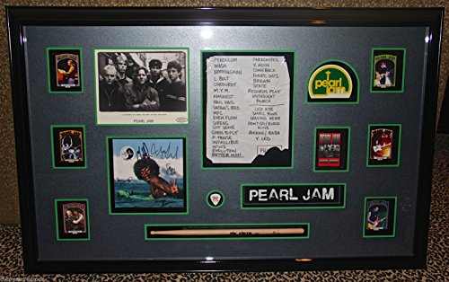 - Pearl Jam autographed signed LP Record display guitar pick drumstick PSA DNA COA