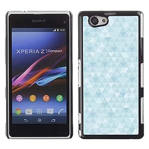 Jordan Colourful Shop - Blue Crystal Polygon Bright Cloud For Xperia Z1 Compact D5503 Custom black plastic Case Cover