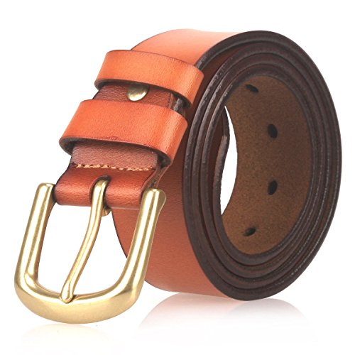 orange dress brown belt - 1