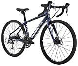 "Diamondback Bicycles Youth Haanjo Trail Complete Alternative Road Bike with 24"" Wheels, One Size, Black/Blue"