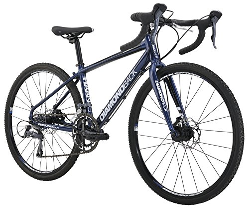 "Diamondback Bicycles Youth Haanjo Trail Complete Alternative Road Bike with 24"" Wheels, One Size, Black/Blue Diamondback Bikes"