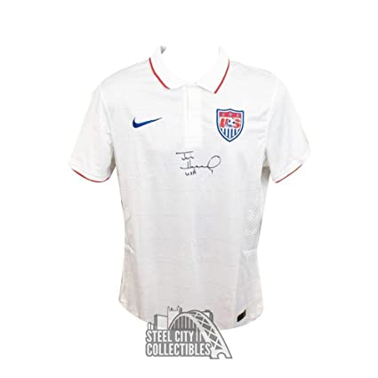 20f9abdfb Signed Tim Howard Jersey - USA Nike White COA - JSA Certified - Autographed  Soccer Jerseys at Amazon s Sports Collectibles Store
