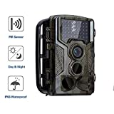 Wildlife Trail Camera 16MP 1080P Infrared Night Vision 20M Motion Activated Wild Hunting Game Cam 120°Detection Range 0.2s Trigger Speed IP56 Waterproof (Upgrade),B