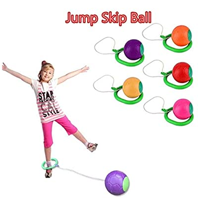 TTMOW Hey! Play! Skip Ball for Kids, Foldable Ankle Skip Ball Sports Swing Ball Exercise Coordination Balance Hop Jump (Purple): Sports & Outdoors