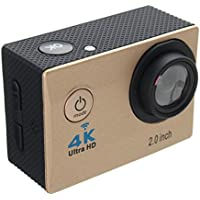 Aurorax Waterproof 4K Wifi HD 1080P Ultra Sports Action Camera DVR Cam Camcorder (Gold)