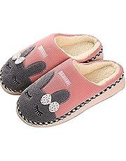 SAGUARO® Winter Baumwolle Pantoffeln Plüsch Wärme Weiche Hausschuhe Kuschelige Home rutschfeste Slippers mit Cartoon für Herren Damen