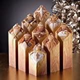 Christmas Decoration - Pillars of Heaven - 9 Piece Interlocking Nativity Story