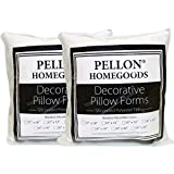 """Pellon TWP1616 Decorative Twin Pack Pillow Insert, 16"""" by 16"""", White"""